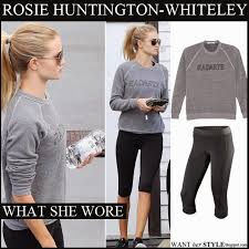 what she wore rosie huntington whiteley in grey rodarte