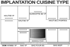 cuisine implantation type fuoco blanc composition ensemble meuble cuisine implantation type