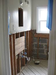 How To Replace Bathroom Subfloor Hanging Cement Board Drywall U0026 Fixing The Subfloor Young House