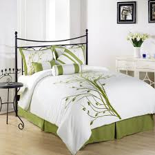 green bedroom sets ideas to decorate a bedroom wall amazonsmile chezmoi collection 7 pieces green tree on white forter set bed in