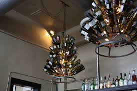 Blue Bottle Chandelier by Diy How To Recycle Wine Bottle Into Chandelier Homesfeed