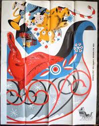 vintage 1957 christmas douglas fir plywood santa u0027s sleigh cutout
