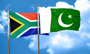 Flag Rsa South Africa Flag With Pakistan Flag 3d Rendering Stock Photo