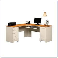 Sauder White Desk by Sauder Harbor View Corner Computer Desk Antiqued White Desk