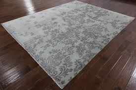 Off White Rug New Modern Broken Flower Design Off White 8 U0027 X 10 U0027 Hand Knotted