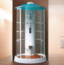 steam shower cubicle glass circular with sliding door k