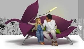 modern sofa by albina basharova inspired by flower living room