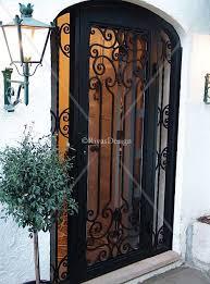 Residential Security Doors Exterior Decorative Wrought Iron Screen Doors Search Decor