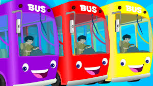 wheels on the bus go round and round english nursery rhymes