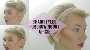 ways to wear your hair growing out a pixie hairstyles when growing out a bob justswimfl com