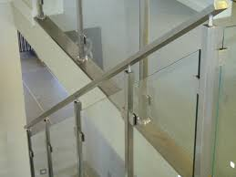 stainless steel banister rails brilliant ideas of flat steel bar handrail with glass google
