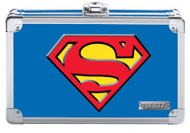 pencil box vaultz superman pencil box blue vaultz vz00879