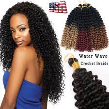 crochet hair extensions 100 water wave crochet braids curly human hair