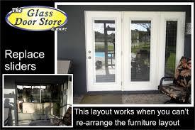 Patio Door Glass Repair Replace Sliding Glass Door Garage Doors With Replacement For