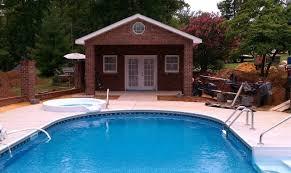 swimming pool cabanas backyard oasis pools and construction
