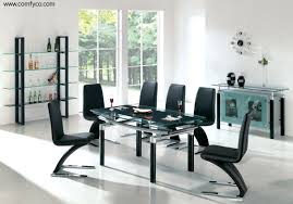 Modern Black Glass Dining Table Black Dining Room Tables
