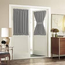 Gray Window Curtains Door Window Curtains Amazon Com