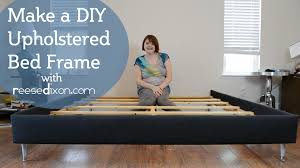 How To Make A Platform Bed With Headboard by How To Build A Diy Upholstered Bedframe Youtube