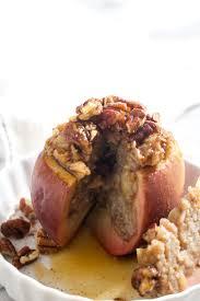 thanksgiving stuffed oatmeal stuffed baked apples