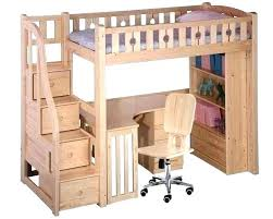 Wooden Bunk Bed With Desk Loft Bed With Desk Underneath Katecaudillo Me