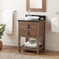 what color goes with brown bathroom cabinets 24 ansel console vanity semi recessed sink farmhouse brown