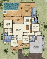 covered lanai beach style house plan 3 beds 4 50 baths 3140 sq ft plan 548 13