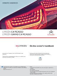 new c4 picasso and grand c4 picasso owners handbook manual