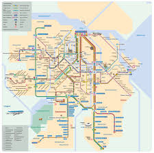 Map Netherlands Official Map Metro And Tram Network Amsterdam Transit Maps