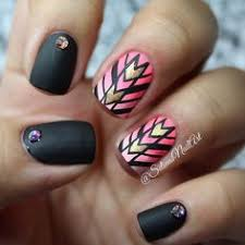 tribal geometric aztec nail art design nail art pinterest