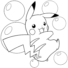 pokemon color page pikachu and pokemon coloring pages coloring
