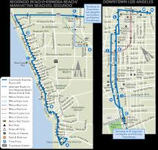 West Adams Los Angeles Map by Commuter Express 438 Ladot Transit Services