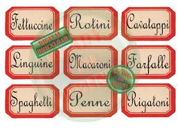 red pasta jar labels printable 9 vintage style farmhouse