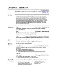 format to make a resume