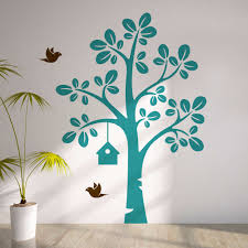 search on aliexpress com by image largetree with flying birds vinyl wall decal kids nursery tree wall sticker baby bedroom wall art decor creative decal y 937