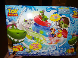 disney pixar toy story partysaurus boat color change splash