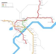 Guangzhou Metro Map by Urbanrail Net U003e Asia U003e China U003e Hangzhou Metro