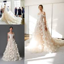 marchesa wedding gowns discount marchesa 2017 3d floral princess shoulder wedding