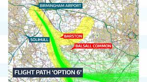 Flight Path Map Civil Aviation Authority Approves Birmingham Airport Flight Path
