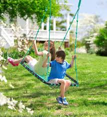 amazon com deluxe platform hanging tree swing for yard or