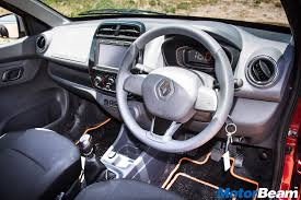 renault truck interior 2016 renault kwid 1 0 litre review test drive motorbeam