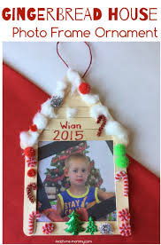 gingerbread house photo frame ornament teach me mommy