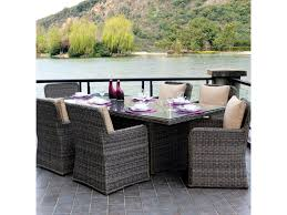 Wicker Patio Dining Sets Woodard Bay Shore Wicker Patio Dining Set