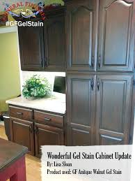 Gel Stained Cabinets Before And After Gel Stain Kitchen Cabinets Espresso General Finishes Antique