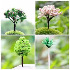 4 designs retail artificial tree miniatures plants garden