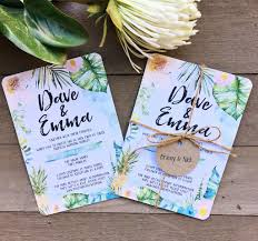 wedding invitations queensland tropical floral watercolor watercolour wedding engagement