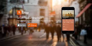 zi simple app landing page html bootstrap template bootstrapbay