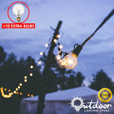 g40 string lights 50ft g40 string lights with 50 globe bulbs outdoor lighting store