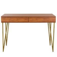office desks i computer writing desks safavieh com pine two drawer desk item fox2238a color natural gold