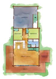 Real Log Homes Floor Plans by Log Home Plan Resources
