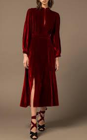 armonia red velvet midi dress by raquel diniz moda operandi